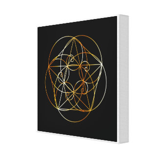 Fibonacci Spiral- The sacred geometry Canvas Print
