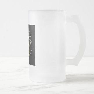Fibonacci Spiral- The sacred geometry Frosted Glass Beer Mug