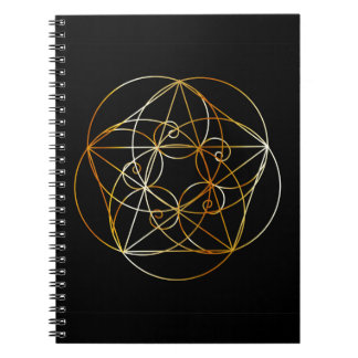 Fibonacci Spiral- The sacred geometry Notebook