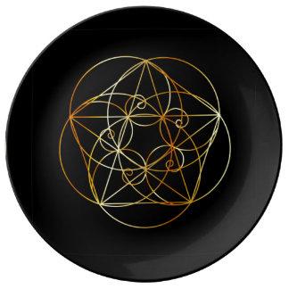 Fibonacci Spiral- The sacred geometry Plate