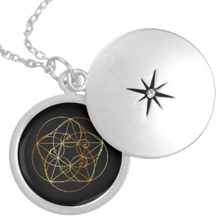 Fibonacci Spiral- The sacred geometry Silver Plated Necklace