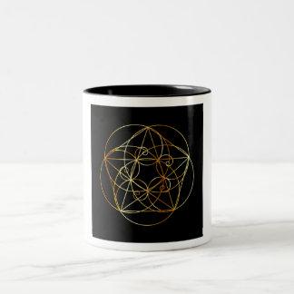 Fibonacci Spiral- The sacred geometry Two-Tone Coffee Mug