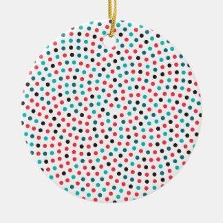 Fibonacci Sunflower Spiral - Melon Ceramic Ornament