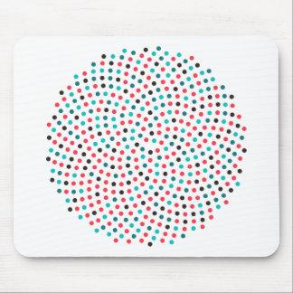 Fibonacci Sunflower Spiral - Melon Mouse Pad