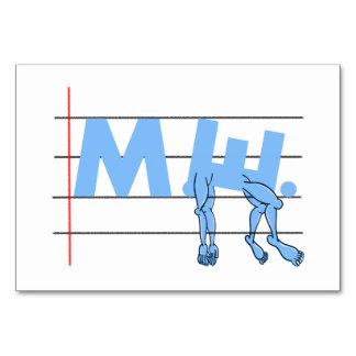 Fibro M.E. CFS Text Art Table Card