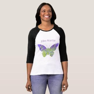 Fibro Warrior Pastel Butterfly TShirt Black Sleeve