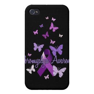 Fibromyalgia Awareness (ribbon & butterflies) iPhone 4/4S Covers