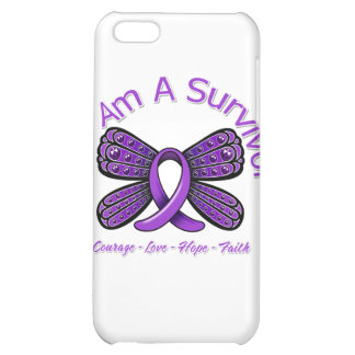 Fibromyalgia Butterfly I Am A Survivor iPhone 5C Cases