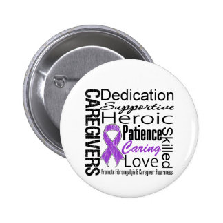 Fibromyalgia Caregivers Collage Pinback Buttons