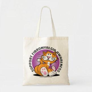 Fibromyalgia Cat Budget Tote Bag