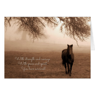 Fibromyalgia Feel Better Horse and Fog with Oak Card