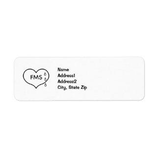 Fibromyalgia Humaneness Campaign Address Labels