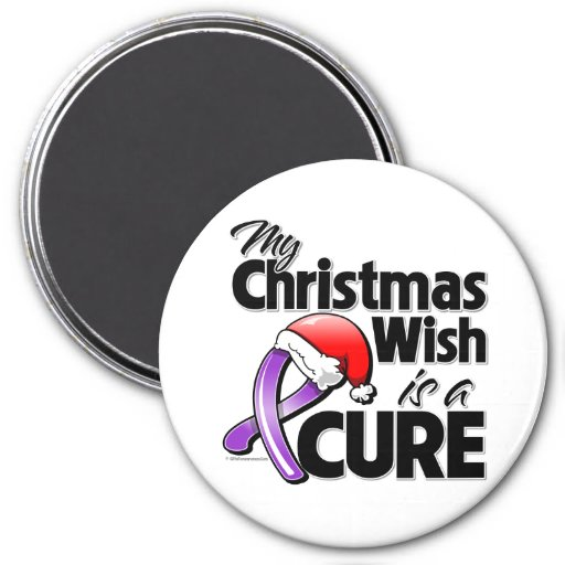 Fibromyalgia My Christmas Wish is a Cure Refrigerator Magnet
