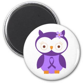 Fibromyalgia Owl 6 Cm Round Magnet