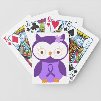 Fibromyalgia Owl Bicycle Playing Cards