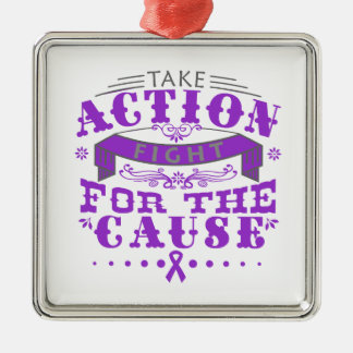 Fibromyalgia Take Action Fight For The Cause Christmas Ornament