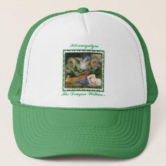 """""""Fibromyalgia, The Dragon Within..."""" Trucker Hat"""