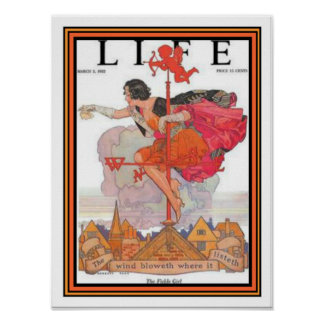 """""""Fickle Girl"""" Art Deco Life Cover 12 x 16 Poster"""
