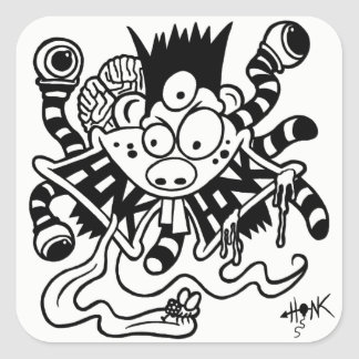 Fickles The Clown Mutant Honk Sticker