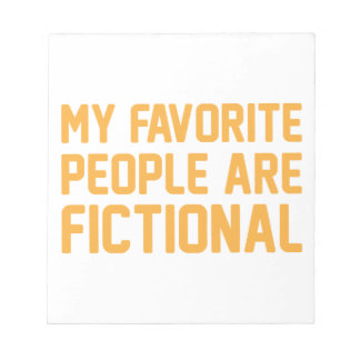Fictional People Notepad