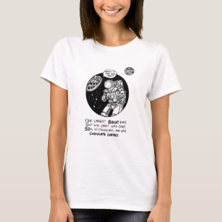"""FICTS """"Biscuit in Space"""" Ladies Babydoll T-Shirt"""