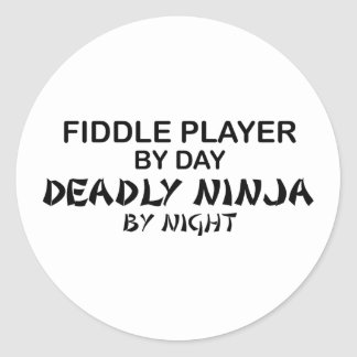 Fiddle Deadly Ninja by Night Classic Round Sticker