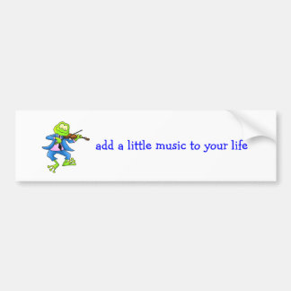 Fiddle Frog Bumper Stickers