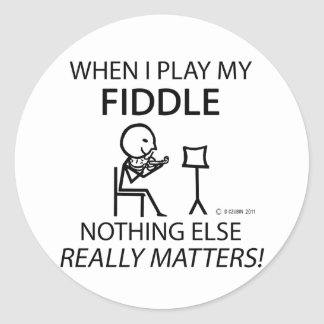 Fiddle Nothing Else Matters Round Sticker