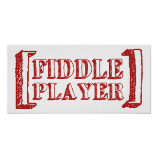 Fiddle Player Poster