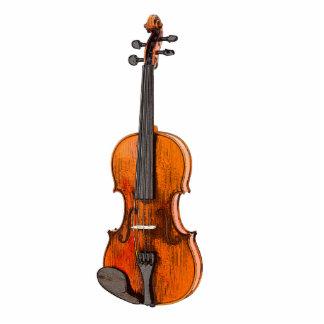 Fiddle Violin 3D Photo Sculpture Decoration