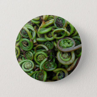 Fiddlehead Ferns 6 Cm Round Badge