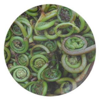Fiddlehead Ferns Plate