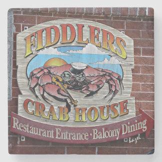 Fiddler's Crab House, Savannah, Georgia Coaster Stone Beverage Coaster