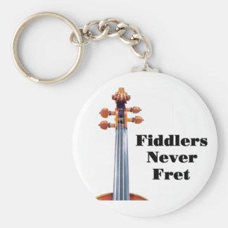 Fiddlers Never Fret Key Ring
