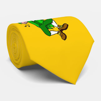 Fiddling Leprechaun For St. Patrick's Day Tie