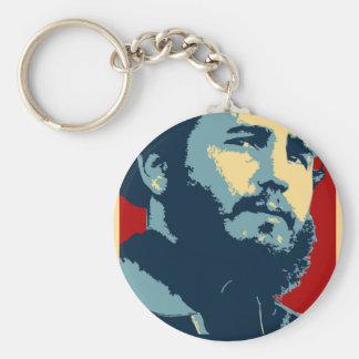 Fidel Castro - Cuban Revolution President of Cuba Basic Round Button Key Ring