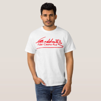 Fidel Castro Signature T-shirt