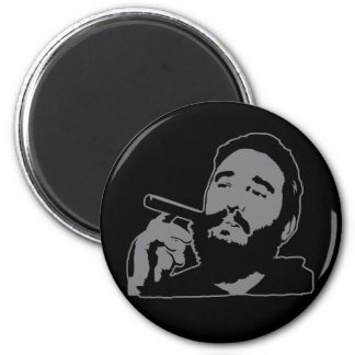 Fidel Castro with Cigar Portrait Magnet