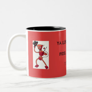 Fidel is dead!!! Two-Tone coffee mug