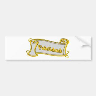 Fidelidad - loyalty writing volume kind Deco Fanta Bumper Sticker