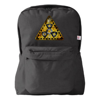 Fidget Spinner Nuclear Radiation Warning Triangle Backpack