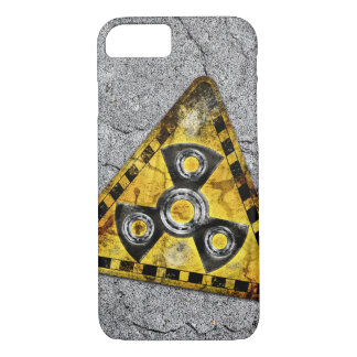 Fidget Spinner Nuclear Radiation Warning Triangle iPhone 8/7 Case