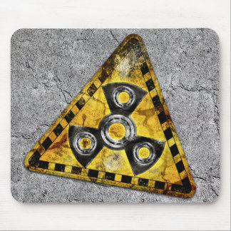 Fidget Spinner Nuclear Radiation Warning Triangle Mouse Pad