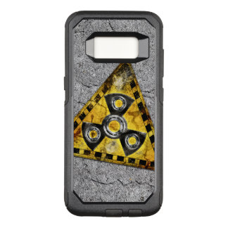 Fidget Spinner Nuclear Radiation Warning Triangle OtterBox Commuter Samsung Galaxy S8 Case