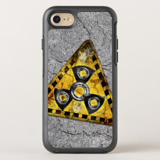 Fidget Spinner Nuclear Radiation Warning Triangle OtterBox Symmetry iPhone 8/7 Case