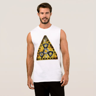 Fidget Spinner Nuclear Radiation Warning Triangle Sleeveless Shirt