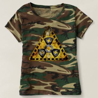 Fidget Spinner Nuclear Radiation Warning Triangle T-Shirt