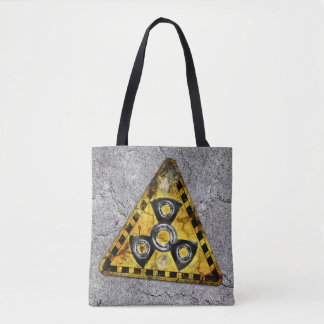 Fidget Spinner Nuclear Radiation Warning Triangle Tote Bag