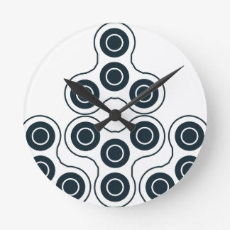 Fidget Spinner Pyramid Round Clock