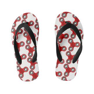 Fidget Spinner Red White Fun Flip Flop